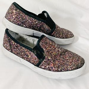 Cat and Jack - glitter multi sparkle flat sneakers